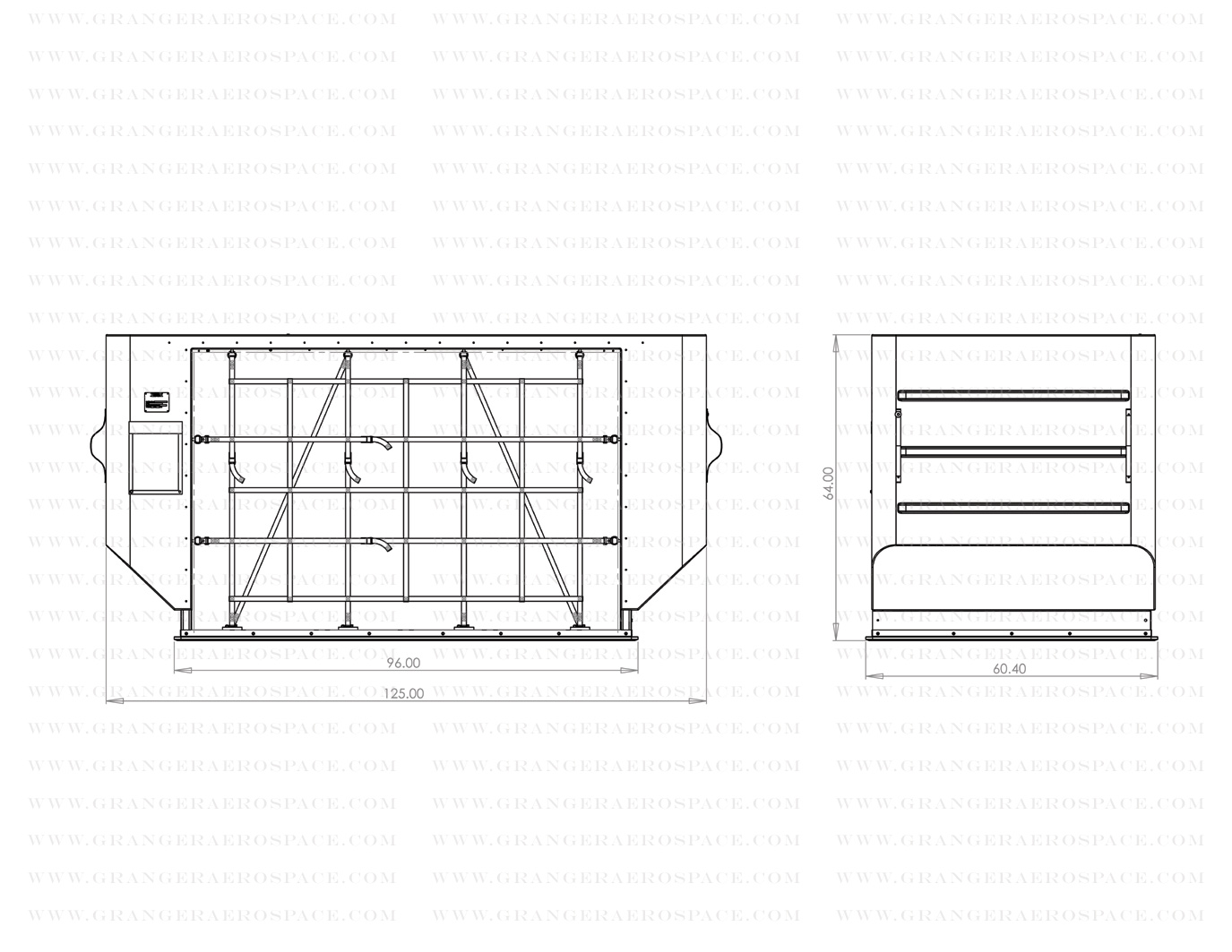 LD 8 Dimensions, LD 8 Air Cargo Container Dimensions, DQF dimensions